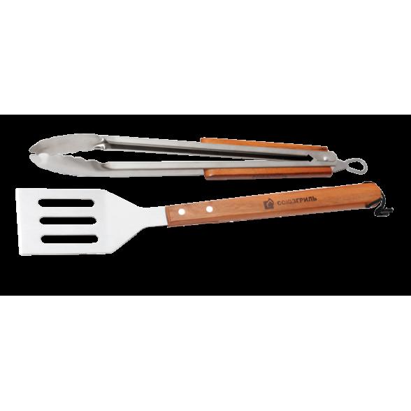 Набор для барбекю 2 предмета (лопатка, щипцы) Союзгриль, N1-A07
