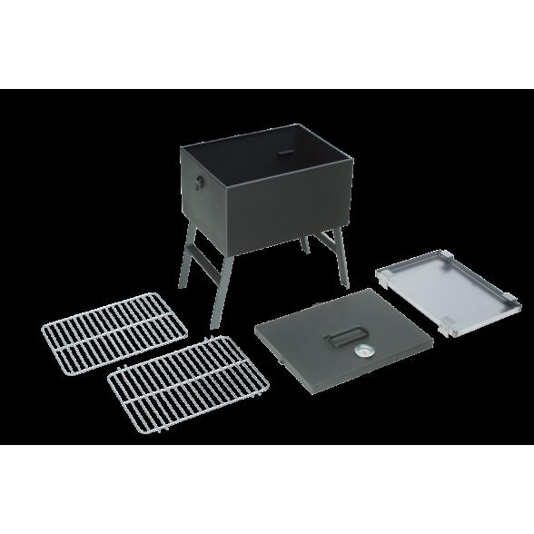 Коптильня-мангал Союзгриль, 40,5х30х46 со съемными ножками и термометром, N1-M06F